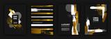 Gold and black luxury background design set