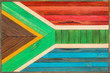 canvas print picture - Flag Of The Republic Of South Africa wood