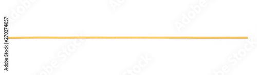 Fotografie, Obraz Integral spaghetti, yellow pasta isolated on white