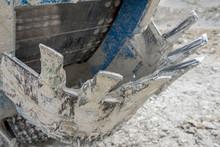 Close Up Of Bucket Wheel Excavator