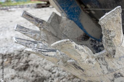 Close up of bucket wheel excavator #270274891