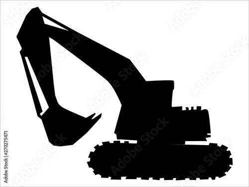 Photo silhouette of excavator