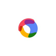 Abstract Circle Overlapping Logo Vector Icon Illustration
