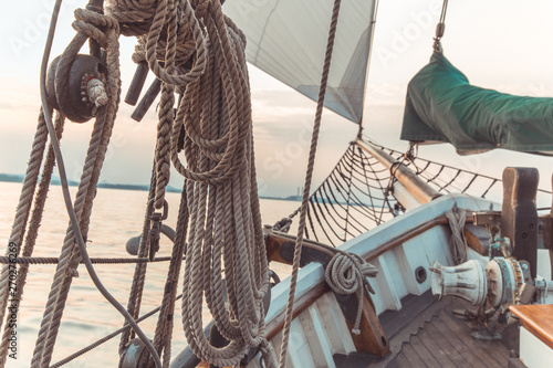 Fotoposter Schip Sail boat rope