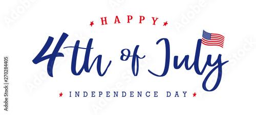 Fotografia, Obraz  United States of America 4th of July, Independence Day vintage logo badge Illustration