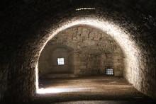 Ancient Dark Secret Passage Of A Castle