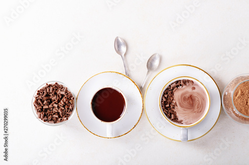 Foto op Plexiglas Chocolade Homemade hot chocolate drink
