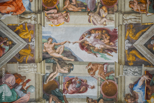 god and adam on the Sistine Chapel ceiling by Michelangelo