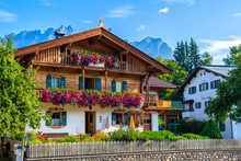 Traditional Alpine Houses In V...
