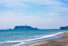 (神奈川県ー風景)七里ヶ浜から見る江の島6