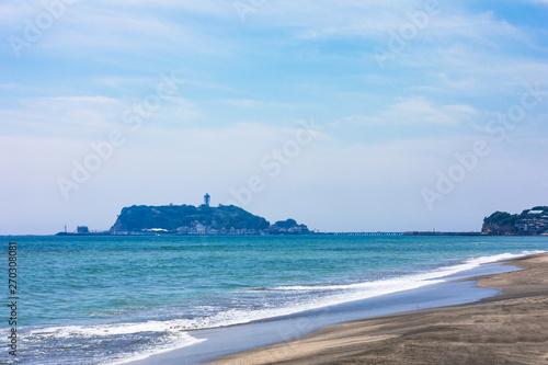 Fotografia  (神奈川県ー風景)七里ヶ浜から見る江の島6