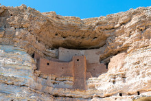 Ancient Sinagua Cliff Dwellings At Montezuma Castle National Monument