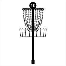 Disc Golf Basket Pin Vector Gr...