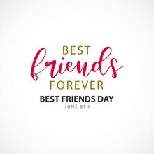 Happy Best Friends Day Vector ...