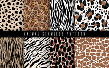 Seamless Animal Abstract Patte...