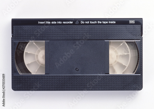 old video cassette on white background Fototapeta