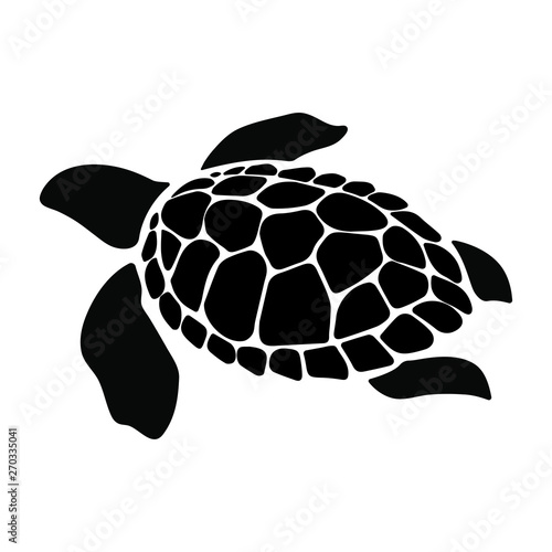 Obraz na plátně Turtle marine animal illustration