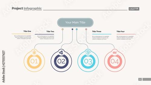Photo  Four ideas process chart slide template