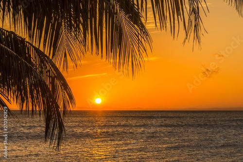 Foto op Aluminium Oranje Sunset at the Nicaragua lake from Ometepe Island in Nicaragua