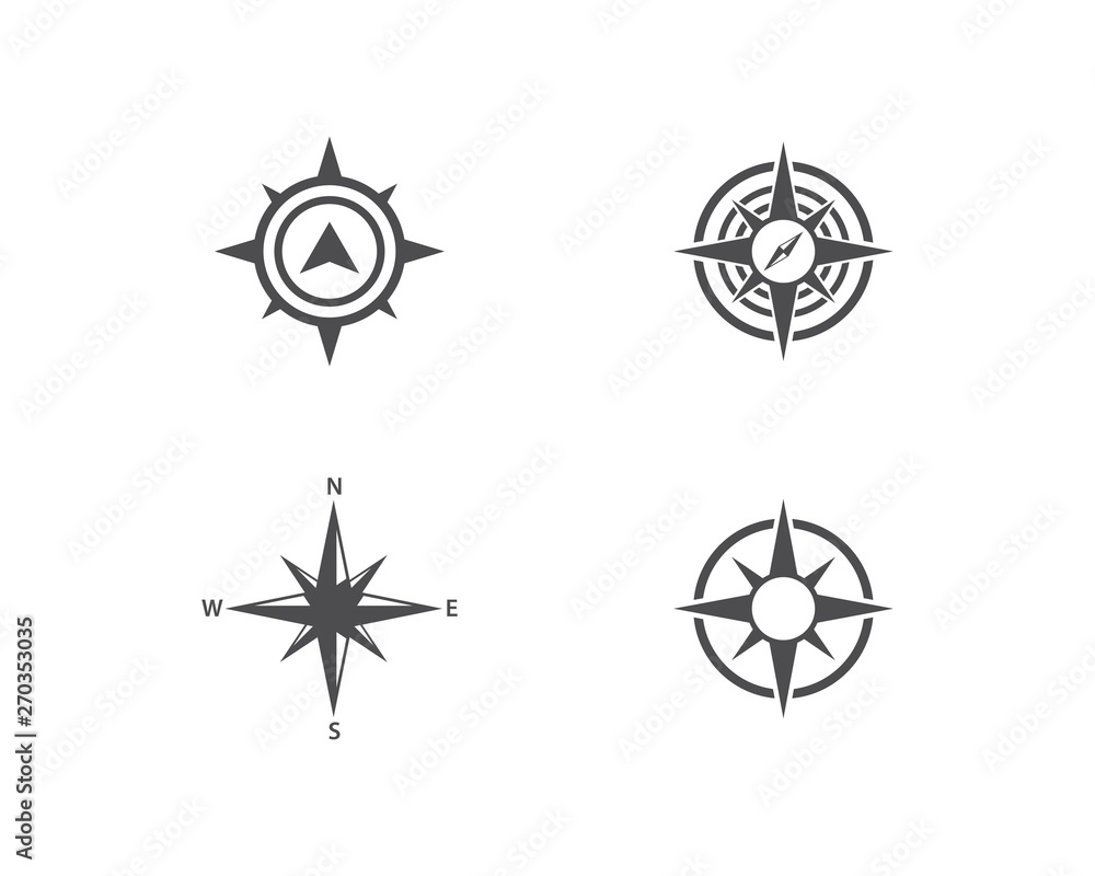 Fototapety, obrazy: Compass icon vector