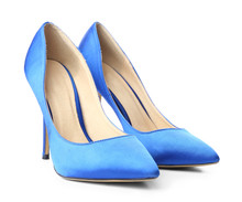 Pair Of Stylish High-heeled Fe...