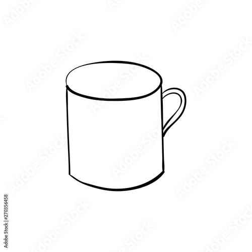 Fotomural hand drawn quirky cartoon tankard of beer