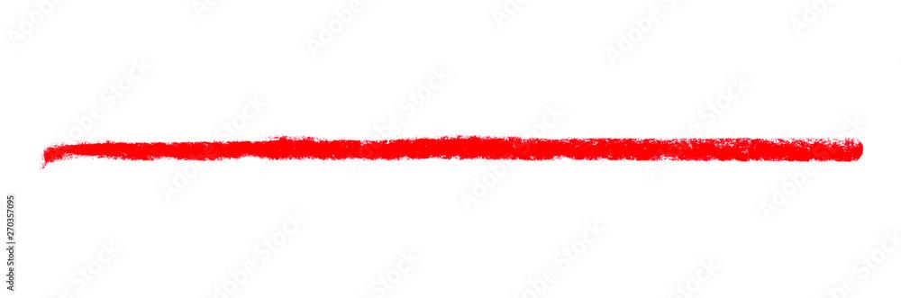 Fototapety, obrazy: Langer roter Kreidestreifen als Markierung