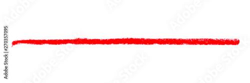 Langer roter Kreidestreifen als Markierung