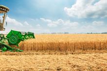 Combine Harvester Harvesting W...