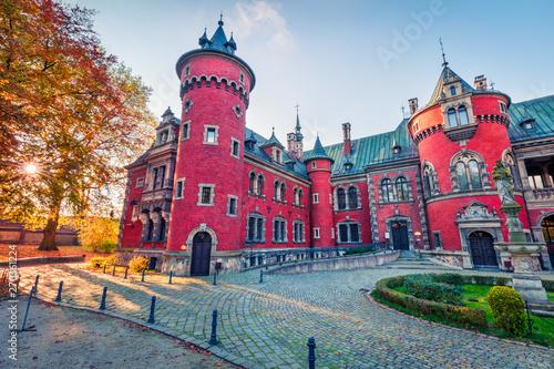 Obraz Pałac w Pławniowicach, krajobraz Górnego Śląska - fototapety do salonu