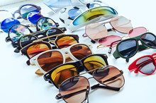 A Variety Of Sunglasses. Summer