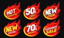 Hot Sale Flame Label Tag