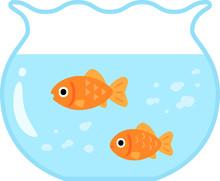 金魚鉢の中の金魚