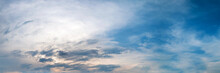 Panorama Sky With Cloud On A C...