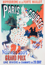 The Advertising Poster Of Horse Racing In The Vintage Book Les Maitres De L'Affiche, By Roger Marx, 1897.