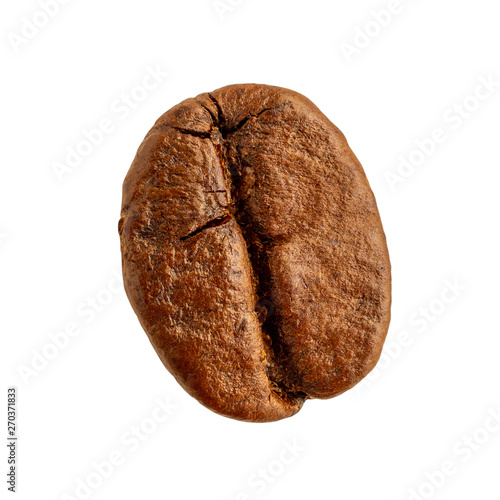 Poster Café en grains Coffee bean closeup isolated on white background