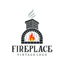 Fireplace Logo Vintage, For Re...