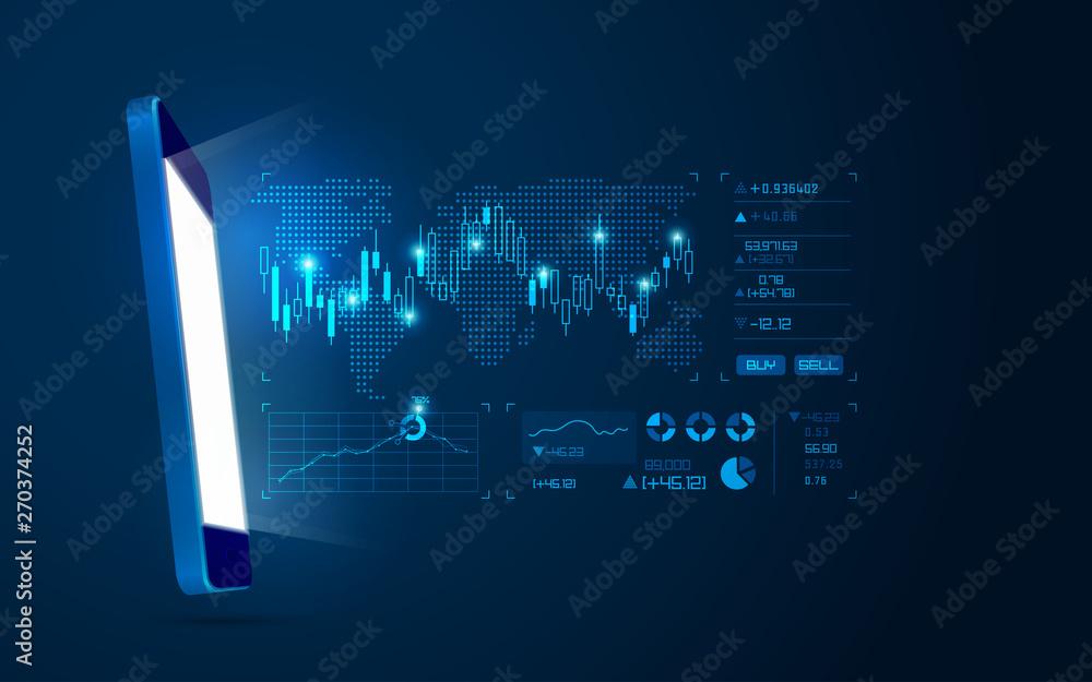 Fototapeta online trading