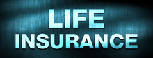 Life Insurance Abstract Blue B...
