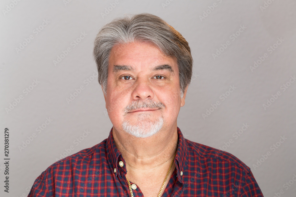 Fototapeta Adult man studio portrait. The image can be used as resource for a particular message based on the content.