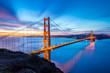 Lovely Golden Gate Bridge Long Exposure Panoramic Photo at Sunrise
