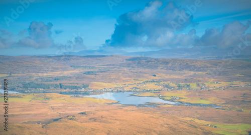 Foto auf AluDibond Blau Isle of Skye landscape - Loch Bracadale, Cuillin Mountains, Atlantic Ocean