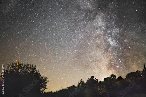Obraz Milky way on a night sky - fototapety do salonu