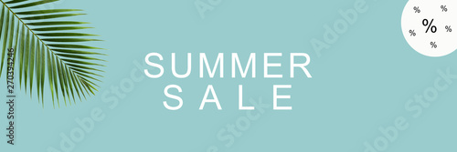 Poster Positive Typography Summer Sale / Textfreiraum / Banner