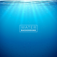 Vector Underwater Blue Ocean B...