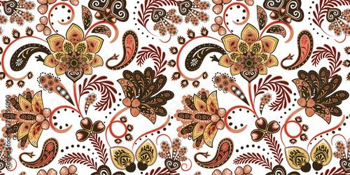 Fotografie, Obraz Seamless vector paisley pattern