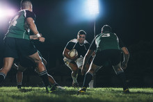 Rugby Players Tackling During ...