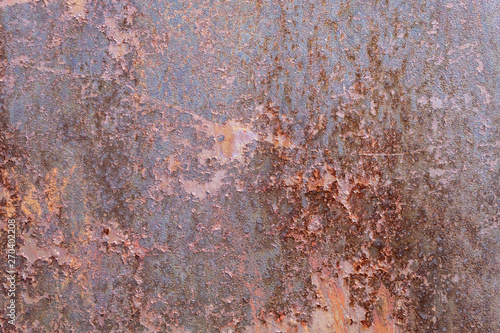 Fototapety, obrazy: Old Weathered Rusty Metal Texture