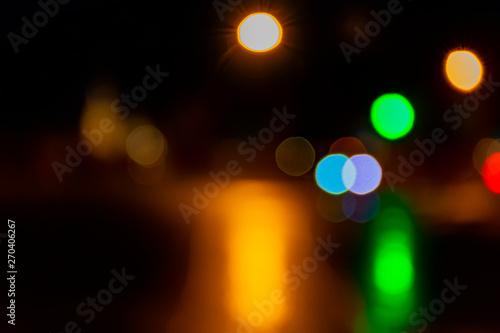 Fototapeta Festive night lights in the city. obraz na płótnie