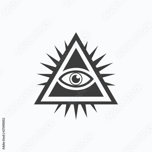 Fotografia, Obraz  All-seeing eye. Vector illustration. EPS 10.